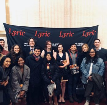 group photo at lyric opera house
